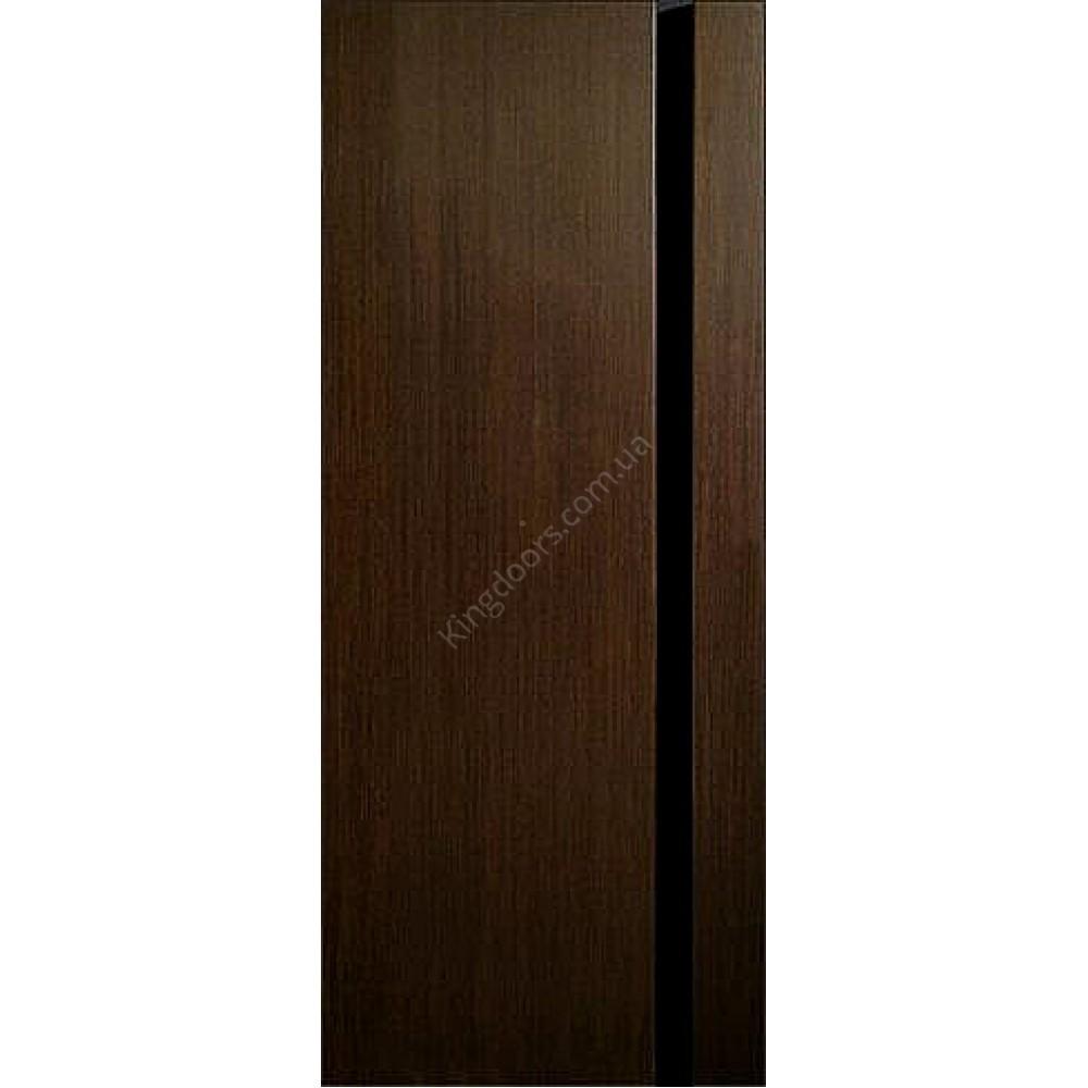 межкомнатные шпонированные двери премьера 1 по черным стеклом