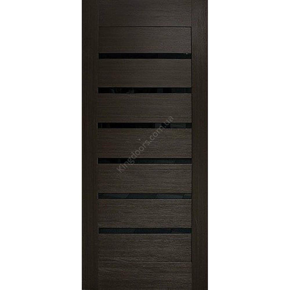межкомнатные двери лагуна по с черным стеклом фабрика омис
