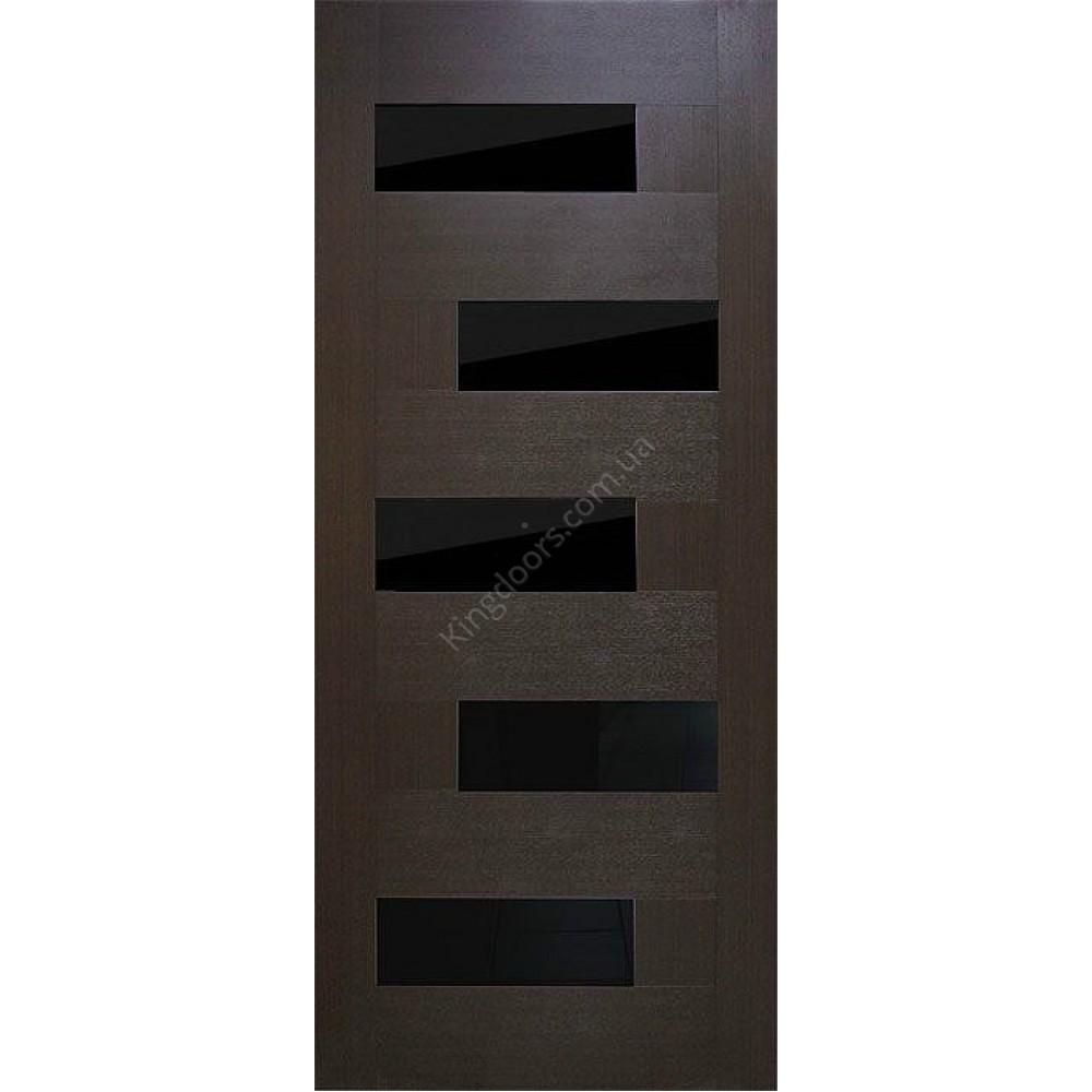 межкомнатные двери домино по с черным стеклом фабрика омис