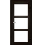 """Межкомнатные двери ART 03-02. Пленка ПВХ. Фабрика """"Art Door"""". Цвет венге"""