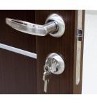 Дверной врезной механизм под цилиндр. Цвет бронза