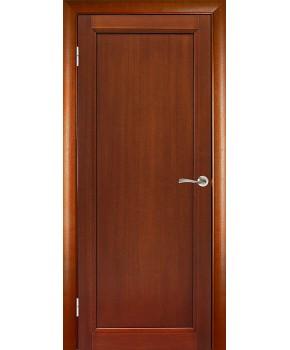 """Межкомнатные шпонированные двери """"Максима"""" ПГ с рисунком.  WoodOk. Цвет - макоре"""