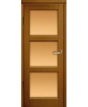 """Межкомнатные шпонированные двери """"Лестница"""" ПО.  Двери Белоруссии. Цвет - дуб рустикаль"""