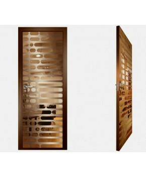 """Межкомнатные стеклокаркасные двери. Модель """"01 В"""". Фабрика Аксиома. Покрытие зеркало. Цвет бронза"""