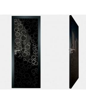 """Межкомнатные стеклокаркасные двери. Модель """"04 MB"""". Фабрика Аксиома. Покрытие зеркало. Цвет моноколор черный"""