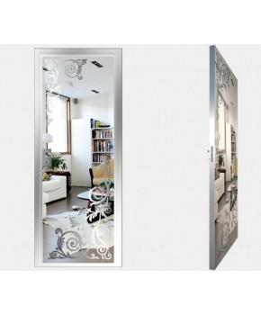 """Межкомнатные стеклокаркасные двери. Модель """"05 S"""". Фабрика Аксиома. Покрытие зеркало. Цвет серебро"""