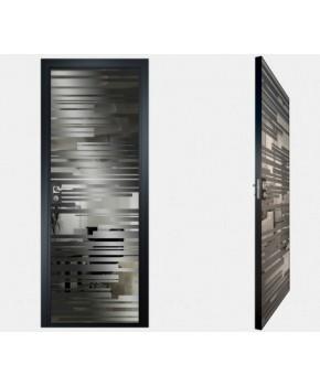 """Межкомнатные стеклокаркасные двери. Модель """"06 G"""". Фабрика Аксиома. Покрытие зеркало. Цвет графит"""