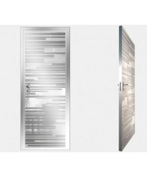 """Межкомнатные стеклокаркасные двери. Модель """"06 MW"""". Фабрика Аксиома. Покрытие зеркало. Цвет моноколор белый"""