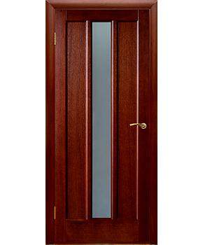 """Межкомнатные шпонированные двери """"Троя"""" ПО.  Двери Белоруссии. Цвет - темный орех"""