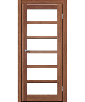 """Межкомнатные двери ART 08-02. Пленка ПВХ. Фабрика """"Art Door"""". Цвет орех"""