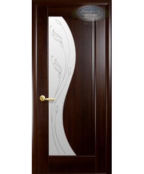 """Межкомнатные двери """"Эскада"""",ПО +Р2. пленка ПВХ, фабрика """"Новый стиль"""", цвет - каштан."""