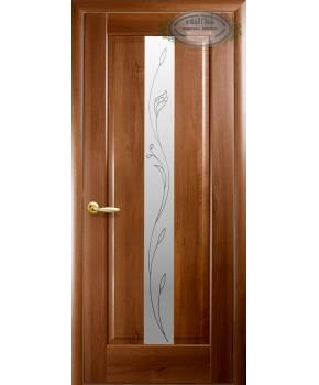 """Межкомнатные двери """"Премьера"""",ПО +Р2. пленка ПВХ, фабрика """"Новый стиль"""", цвет - золотая ольха."""