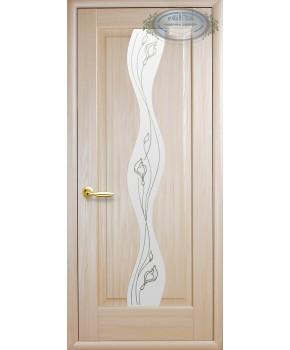 """Межкомнатные двери """"Волна"""",ПО +Р2. пленка ПВХ, фабрика """"Новый стиль"""", цвет - ясень."""