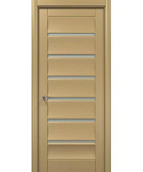 """Межкомнатные шпонированные двери """"Модерн 3"""" ПО.  WoodOk. Цвет - беленый дуб"""