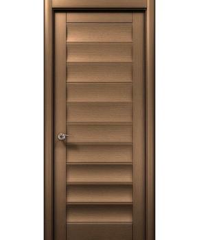 """Межкомнатные шпонированные двери """"Модерн"""" ПГ.  WoodOk. Цвет - шоколадный венге"""