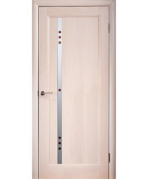 """Межкомнатные шпонированные двери """"Фиджи"""" ПО с фьюзингом.  WoodOk. Цвет - беленый дуб"""