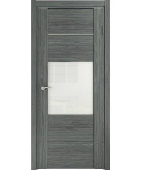 """Межкомнатные шпонированные двери """"Кэмбридж"""" ПО.  НСД. Цвет - грей"""