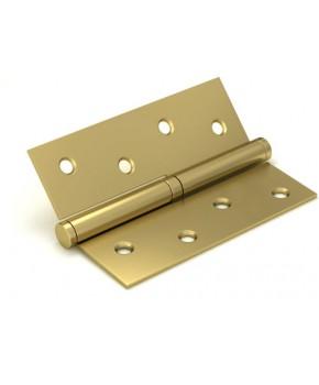 Дверные съемные врезные петли. Длинна 100 мм. Открывание ЛЕВОЕ. Цвет матовое золото