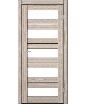 """Межкомнатные двери M 402. Пленка ПВХ. Фабрика """"Art Door"""". Цвет беленый дуб"""