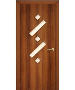 """Межкомнатные двери """"Танго 2"""" ПО. Фабрика Омис. Ламинированные. Цвет - орех"""