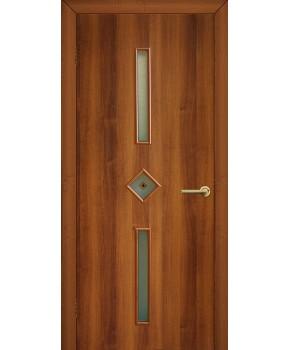 """Межкомнатные двери """"Диадема"""" ПО с фьюзингом. Фабрика Омис. Ламинированные. Цвет - орех"""