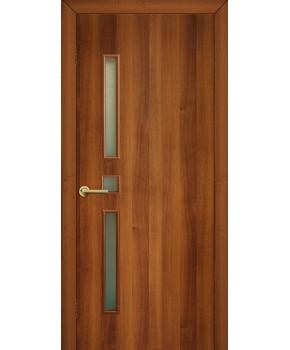"""Межкомнатные двери """"Комфорт"""" ПО. Фабрика Омис. Ламинированные. Цвет - орех"""