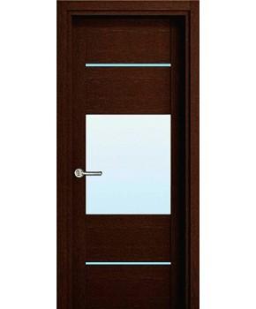 """Межкомнатные шпонированные двери """"Кэмбридж"""" ПО.  НСД. Цвет - венге шоколад"""