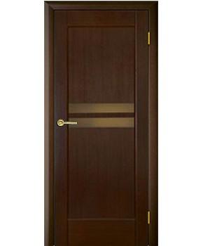 """Межкомнатные шпонированные двери """"Санрайз 2"""" ПО.  НСД. Цвет - венге шоколад"""