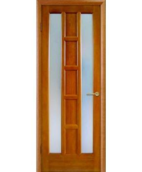 """Межкомнатные шпонированные двери """"Квадра"""" ПО.  НСД. Цвет - яблоня"""
