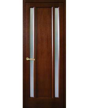 """Межкомнатные шпонированные двери """"Текстон"""" ПО.  НСД. Цвет - каштан"""