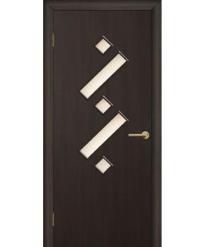 """Межкомнатные двери """"Танго 2"""" ПО. Фабрика Омис. Ламинированные. Цвет -  венге"""