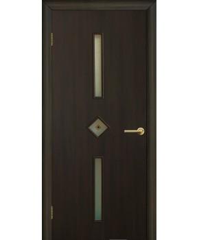 """Межкомнатные двери """"Диадема"""" ПО с фьюзингом. Фабрика Омис. Ламинированные. Цвет - венге"""