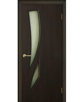 """Межкомнатные двери """"Фиеста"""" ПО. Фабрика Омис. Ламинированные. Цвет - венге"""