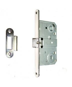 Дверной врезной механизм под поворотник. Цвет хром