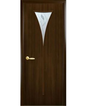 """Межкомнатные двери """"Бора"""",ПО+Р3. пленка ПВХ фабрика """"Новый стиль"""", цвет - орех премиум"""