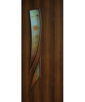 """Межкомнатные двери """"Фиеста"""" ПО с фотопечатью. Фабрика Омис. Ламинированные. Цвет - орех"""