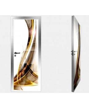 """Межкомнатные стеклокаркасные двери. Модель """"01 F"""". Фабрика Аксиома. Покрытие зеркало. фотопечать"""