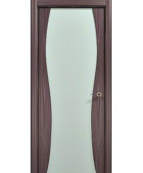 """Межкомнатные шпонированные двери """"Танго"""" ПО.  WoodOk. Цвет - венге"""