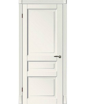 """Межкомнатные шпонированные двери """"Tecoro k-2 """" ПГ.  WoodOk. Цвет - белая эмаль"""