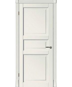 """Межкомнатные шпонированные двери """"Tecoro k-3 """" ПГ.  WoodOk. Цвет - белая эмаль"""
