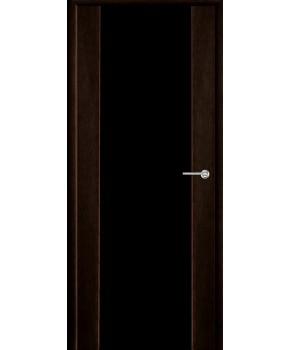 """Межкомнатные шпонированные двери """"Соня"""" ПО.  Двери Белоруссии. Цвет - черный ясень"""