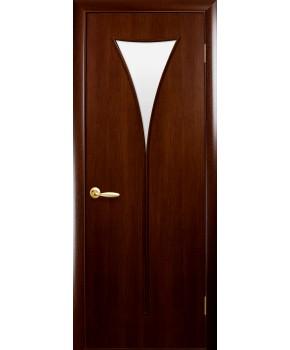 """Межкомнатные ламинированные двери """"Бора"""",ПО. фабрика """"Новый стиль"""", цвет - орех"""