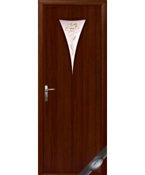 """Межкомнатные ламинированные двери """"Бора"""",ПО+Р1. фабрика """"Новый стиль"""", цвет - орех"""