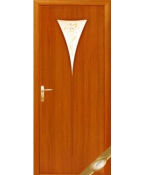 """Межкомнатные ламинированные двери """"Бора"""",ПО+Р1. фабрика """"Новый стиль"""", цвет - ольха"""