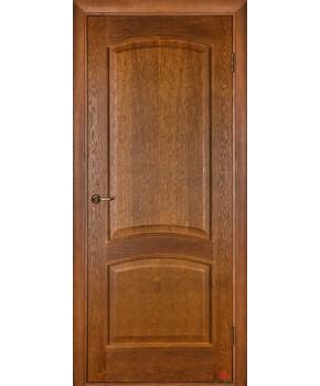 """Межкомнатные шпонированные двери """"Капри 3"""" ПГ.  Двери Белоруссии. Цвет - дуб тонированный"""