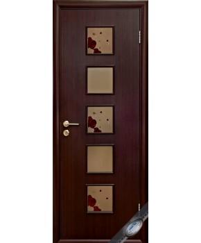 """Межкомнатные ламинированные двери """"Фора"""",ПО+Р1. фабрика """"Новый стиль"""", цвет - венге 3D"""
