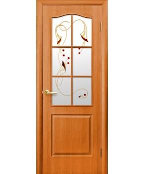 """Межкомнатные двери """"Фортис В"""",ПО +Р1. пленка ПВХ, фабрика """"Новый стиль"""", цвет - ольха"""