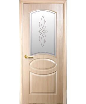 """Межкомнатные двери """"Фортис овал"""",ПО +Р1. пленка ПВХ, фабрика """"Новый стиль"""", цвет - ясень."""