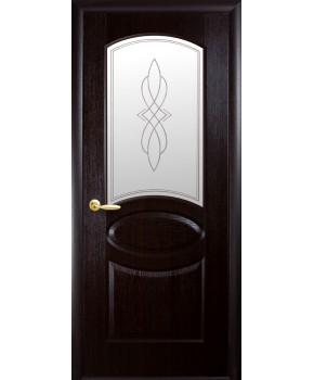 """Межкомнатные двери """"Фортис овал"""",ПО +Р1. пленка ПВХ, фабрика """"Новый стиль"""", цвет - венге."""