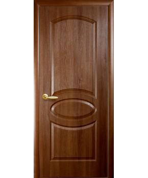 """Межкомнатные двери """"Фортис овал"""",ПГ, пленка ПВХ, фабрика """"Новый стиль"""", цвет - золотая ольха."""